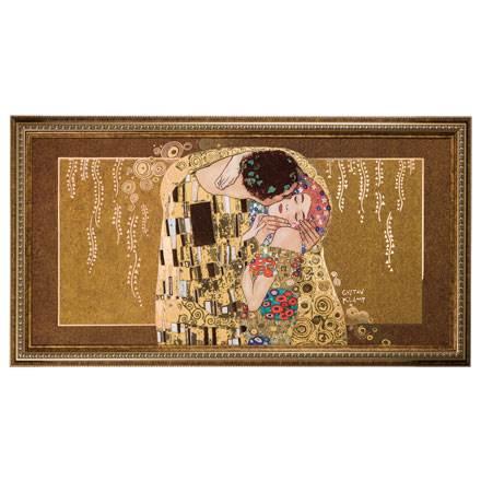 """Картина на фарфоре """"Поцелуй"""", декорирована золотом. Лимитированный выпуск 199 шт., подтвержден сертификатом"""