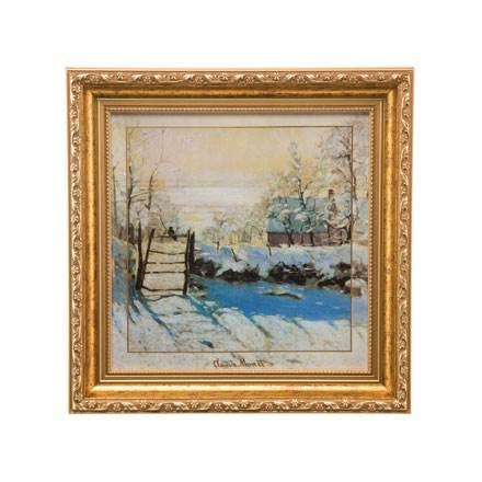 """Картина на керамике """"Сорока  Winter landscape"""". Лимитированный выпуск 1999 шт., подтвержден сертификатом"""