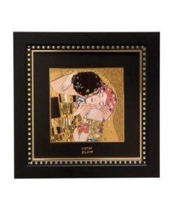 """Картина на фарфоре """"Поцелуй"""", декорирована золотом. Лимитированный выпуск 1999 шт., подтвержден сертификатом"""