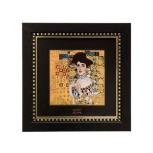"""Картина на фарфоре """"Адель"""", декорирована золотом. Лимитированный выпуск 1999 шт., подтвержден сертификатом"""