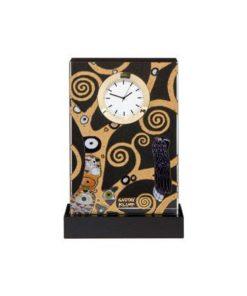 """Стеклянные настольные часы """"Древо Жизни"""", декорированы золотом"""