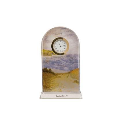 """Стеклянные настольные часы """""""", декорированы золотом"""
