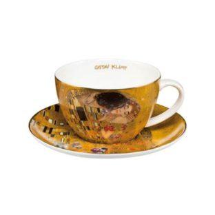 """Набор фарфоровый чайный чашка 250 мл и блюдце """"Поцелуй"""""""