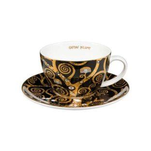 """Набор фарфоровый чайный чашка 250 мл и блюдце """"Древо Жизни"""""""
