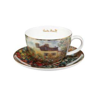 """Набор фарфоровый чайный чашка 250 мл и блюдце """"Дом художника"""""""