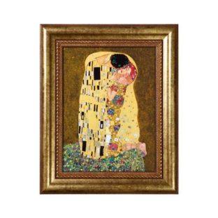 """Картина на фарфоре """"Поцелуй"""", декорирована золотом. Лимитированный выпуск 5000 шт., подтвержден сертификатом"""