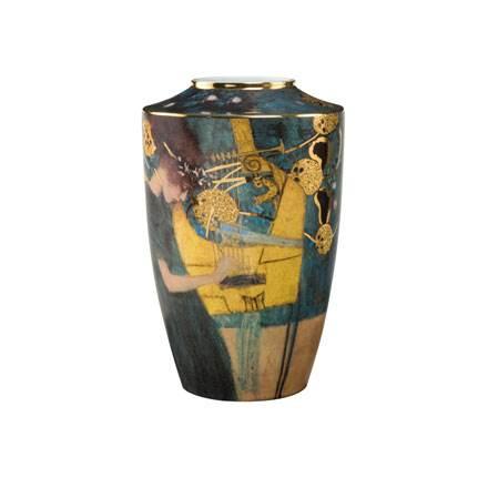 """Фарфоровая ваза """"Музыка"""", декорированная золотом"""