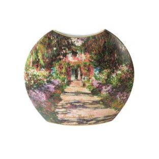"""Фарфоровая ваза """"Тропинка в саду Моне"""", декорированная золотом"""