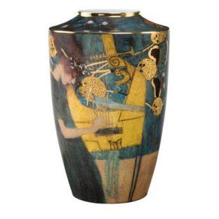 """Фарфоровая ваза """"Музыка"""", декорирована золотом. Лимитированный выпуск 999 шт., подтвержден сертификатом"""