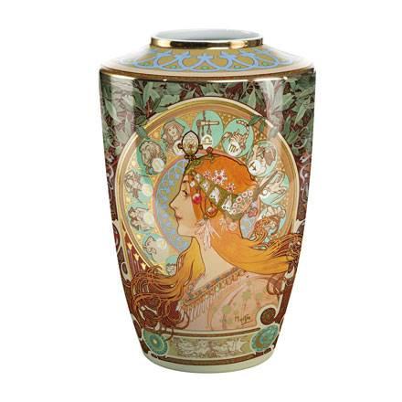 """Фарфоровая ваза """"Зодиак"""", декорирована золотом. Лимитированный выпуск 999 шт., подтвержден сертификатом"""