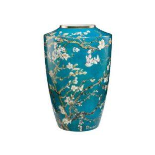 """Фарфоровая ваза """"Цветущие ветки миндаля""""."""