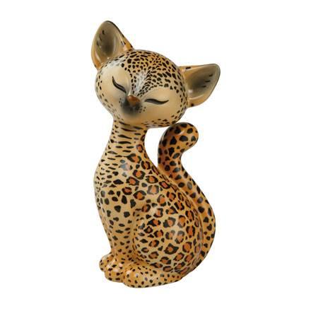 "Фарфоровая статуэтка ""Леопард Китти"" 18 см"