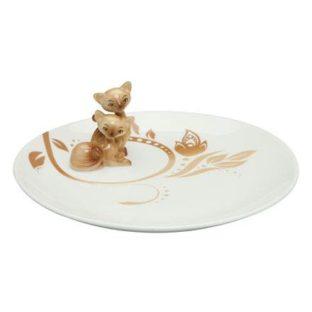 "Фарфоровая тарелка ""Сиамские кошечки"" диаметр 20 см"