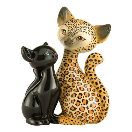 """Фарфоровая статуэтка """"Влюбленный леопард"""" 18 см"""