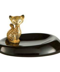 """Фарфоровая декоративная чаша """"Леопард Китти"""" 14см х 11см"""