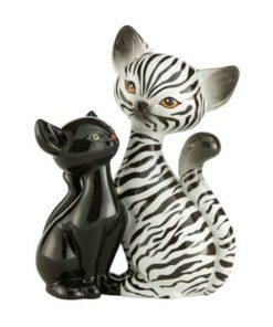 """Фарфоровая статуэтка """"Влюбленная зебра"""" 18 см"""