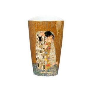 """Фарфоровая ваза """"Поцелуй"""" , декорирование золотом"""