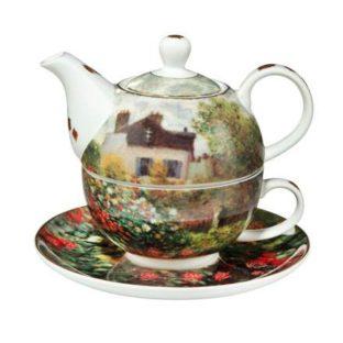 """Фарфоровый набор чайник-чашка """"Дом художника"""" 350 мл"""