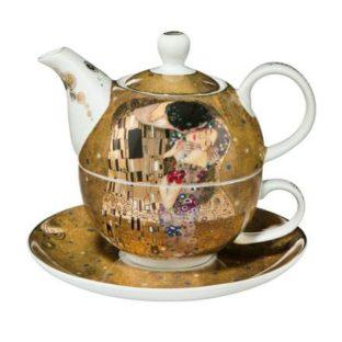 """Фарфоровый набор чайник-чашка """"Поцелуй"""" 350 мл"""