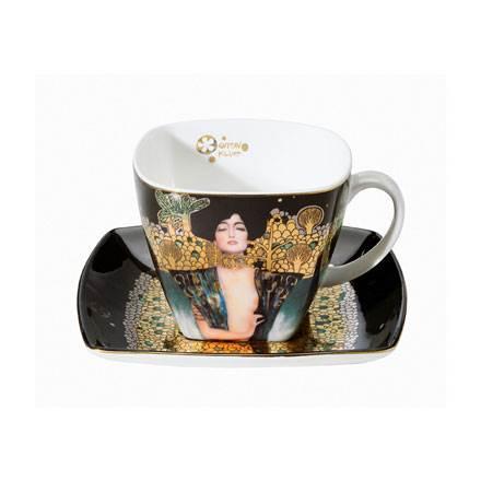 """Фарфоровый набор для кофе """"Юдифь""""  чашка 250 мл, блюдце"""
