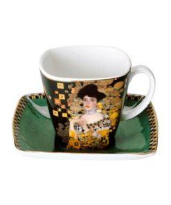 """Фарфоровый набор для кофе """"Адель""""  чашка демитассе 100 мл, блюдце"""
