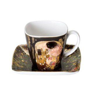 """Фарфоровый набор для кофе """"Поцелуй""""  чашка демитассе 100 мл, блюдце"""