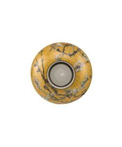 """Фарфоровый подсвечник в подарочной упаковке """"Цветущие ветки миндаля"""" малый, декорирован золотом, свеча в комплекте"""