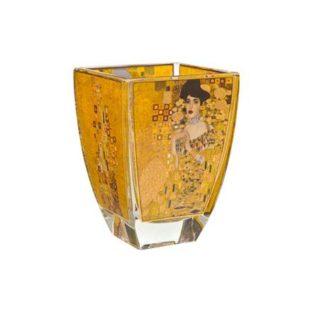 """Стеклянный подсвечник  """"Адель"""", декорирован золотом"""