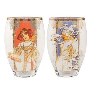 """Стеклянная ваза """"Осень/Зима 1900"""", декорирована золотом"""