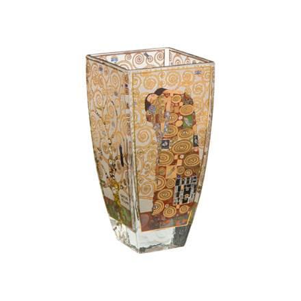 """Стеклянная ваза  """"Исполнение"""", декорирована золотом"""