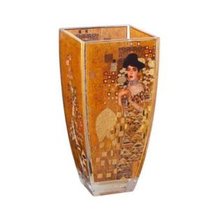 """Стеклянная ваза """"Адель"""", декорирована золотом"""