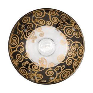 """Стеклянная чаша """"Древо Жизни"""" , декорирована золотом"""