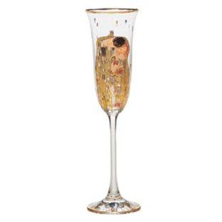 """Бокал для шампанского """"Поцелуй"""" 100 мл, декор золото"""