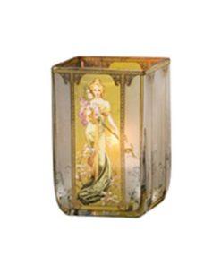 """Стеклянный подсвечник """"Весна 1900"""", декорирован золотом"""