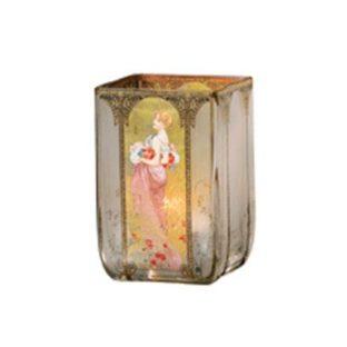 """Стеклянный подсвечник """"Лето 1900"""", декорирован золотом"""
