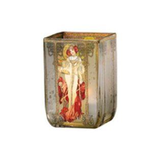 """Стеклянный подсвечник """"Осень 1900"""", декорирован золотом"""