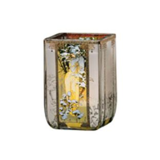 """Стеклянный подсвечник """"Зима 1900"""", декорирован золотом"""