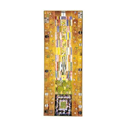 """Стеклянный прямоугольный поднос """"Стоклет Фриз"""" декор золото"""