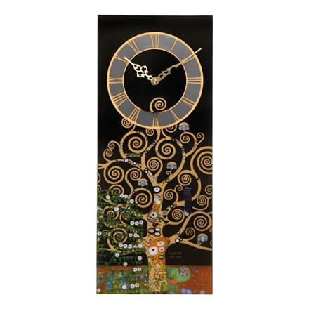"""Настенные стеклянные часы """"Древо Жизни"""", декор золото"""