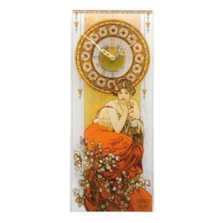 """Настенные стеклянные часы """"Топаз"""", декор золото"""