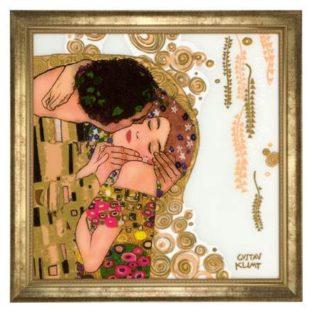 """Зеркало настенное """"Поцелуй"""", декор золото. Лимитированный выпуск 500 шт., подтвержден сертификатом"""