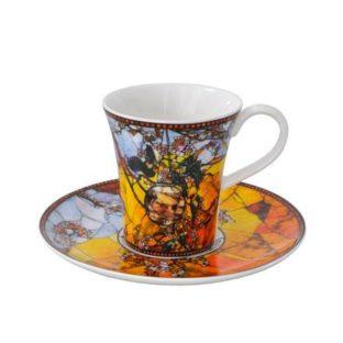 """Набор для кофе """"Попугаи"""" чашка демитассе 100 мл, блюдце"""