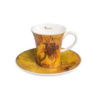 "Набор для кофе ""Подсолнухи I"" чашка демитассе 100 мл, блюдце"