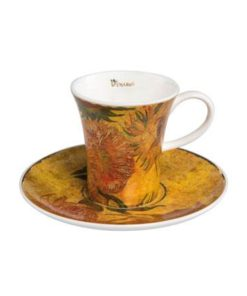 "Набор для кофе ""Подсолнухи II"" чашка демитассе 100 мл, блюдце"