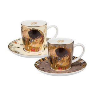 """Набор для кофе  """"Попугаи"""" 2 чашки демитассе 100 мл, 2 блюдца. Лимитированный выпуск 4999 шт., сертификат"""