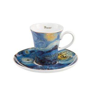 """Набор для кофе """"Звездная ночь""""  чашка демитассе 100 мл, блюдце"""
