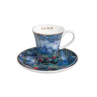 """Набор для кофе """"Водяные лилии"""" чашка демитассе 100 мл, блюдце"""
