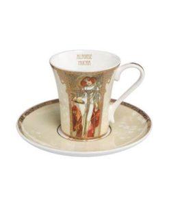 "Набор для кофе ""Осень/Зима"" чашка демитассе 100 мл, блюдце"