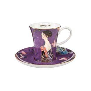 """Набор для кофе """"Дама с веером"""" чашка демитассе 100 мл, блюдце"""