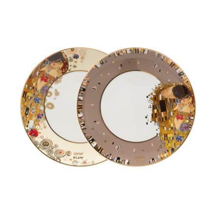 """Набор из 2 фарфоровых тарелок """"Поцелуй"""" 22.5см. Лимитированный выпуск 4999 шт., сертификат"""